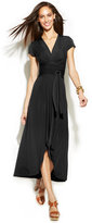 MICHAEL Michael Kors High-Low Wrap Dress