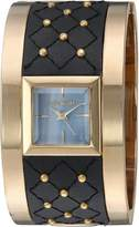 Steve Madden Women's Quartz Gold and Alloy Casual Watch, Color:Two Tone (Model: SMW006G-BK)