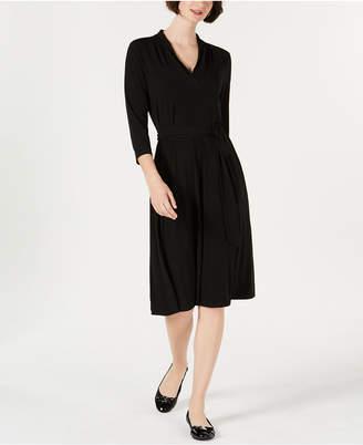Charter Club 3/4-Sleeve Midi Dress