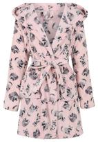 George Racoon Print Dressing Gown