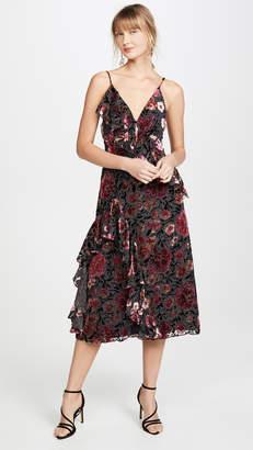 Jill Stuart Velvet Devore Dress