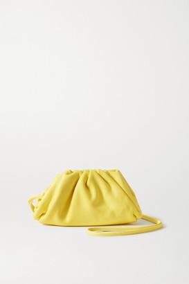 Bottega Veneta The Pouch Mini Gathered Leather Clutch - Pastel yellow