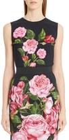 Dolce & Gabbana Rose Print Cady Top