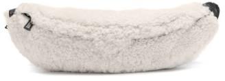 STAUD Nat Oversized Shearling Belt Bag - Womens - White