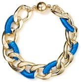AQUA Wrapped Chain Ribbon Bracelet