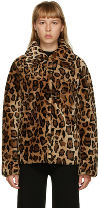 Yves Salomon Meteo Yves Salomon - Meteo Brown Leopard Shearling Jacket