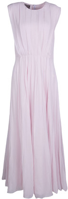 Giambattista Valli Blush Pink Silk Chiffon Sleeveless Maxi Dress M