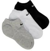 Nike 3 Pack Youth No Show Socks