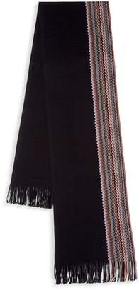 Missoni Multi-Color Zig-Zag Wool Blend Scarf