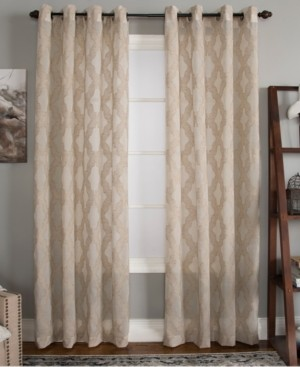 "Closeout! Miller Curtains Clip 50"" x 95"" Geometric Window Panel"