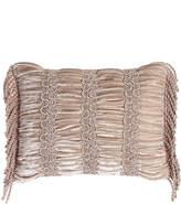 "Dian Austin Couture Home Dahlia Ruched Velvet Pillow, 12"" x 16"""