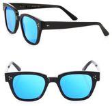 Kyme Ricky 49MM Flat Wayfarer Sunglasses