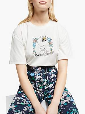 People Tree Moomin Couple Organic Cotton T-Shirt, White