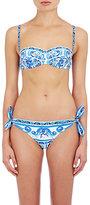 Dolce & Gabbana WOMEN'S FLORAL-PRINT BALCONETTE BIKINI SET-BLUE SIZE 2