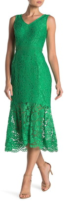 Nanette Nanette Lepore V-Neck Sleeveless Lace Dress