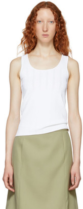 Marc Jacobs White Redux Grunge Tank Top