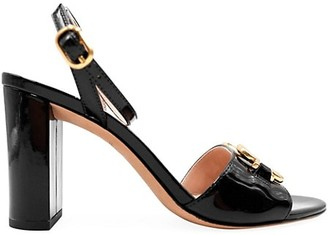 Kate Spade Odelia Spades Ankle-Wrap Patent Leather Sandals