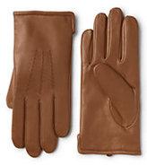 Lands' End Men's Cashmere Lined Leather Gloves-Slate Heather