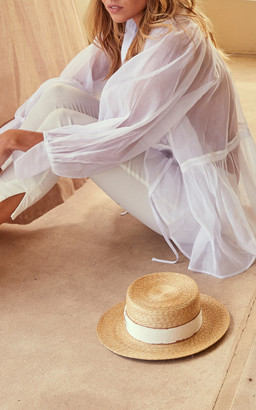 story. White Lumiere Floated Cotton Shirt