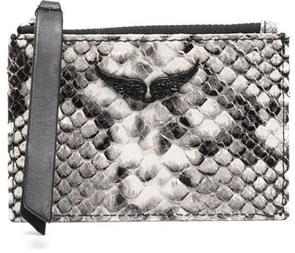 Zadig & Voltaire Snakeskin Effect Card Holder