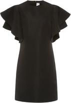 Victoria Victoria Beckham Ruffled Faille Mini Dress