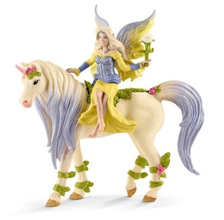 Schleich Hand-Painted Figure Fairy Sera with Blossom Unicorn