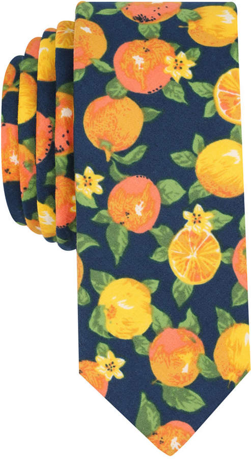 Original Penguin Men's Citrus Print Skinny Tie