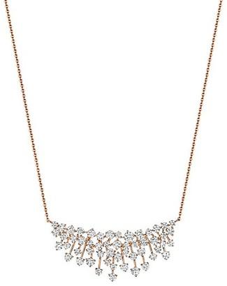 Hueb Luminus 18K Rose Gold & Diamond Cluster Pendant Necklace
