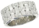Effy Jewelry Effy 925 Sterling Silver Diamond Ring, 0.16 TCW