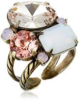 "Sorrelli Pink Peony"" Multi-Cut Crystal Cluster Ring, Size 7-9"