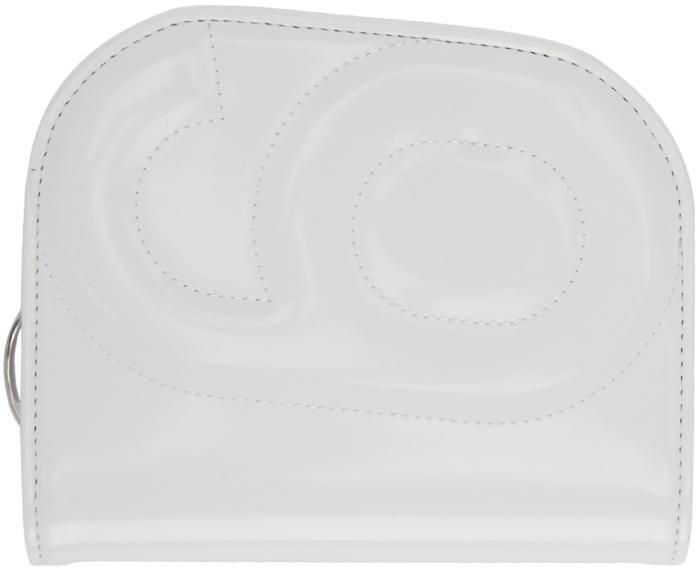 MM6 MAISON MARGIELA White 6 Curved Zip Around Wallet