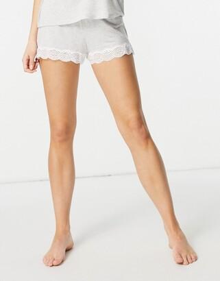 Dorina Ady pyjama short in grey marl