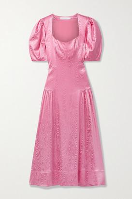 Jonathan Simkhai Rumi Satin-moire Midi Dress - Bubblegum