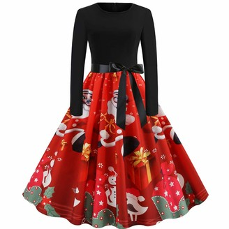 RODMA Gifts Horse Lovers Burgundy Maxi Petite Denim Mint Bridesmaid Plus Personalised Presents Secret Santa Gifts for Girls Adult Christmas Fancy Dress Black Maxi with Sleeves red Evening