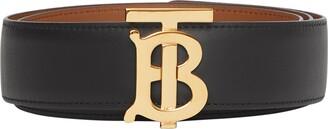 Burberry Logo Buckle Reversible Leather Belt