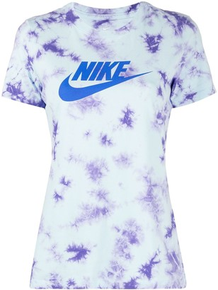 Nike NSW washed tie-dye print T-shirt