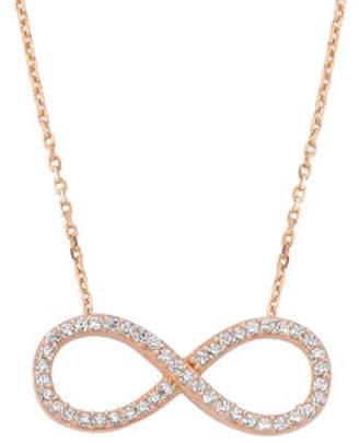Amorium 18K Rose Gold Over Silver Cz Big Infinity Necklace