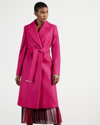 Ted Baker Long Collared Wool Coat