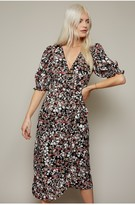 Thumbnail for your product : Little Mistress Firth Floral-Print Midi Wrap Dress