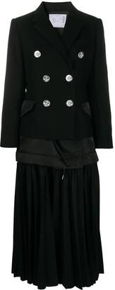 Sacai Pleated Hem Coat