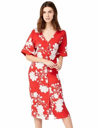 Amazon Brand - TRUTH & FABLE Womens Dress Kimono Midi