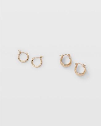 Club Monaco Curved Hoop Earrings