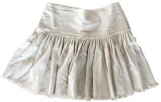 Etoile Isabel Marant Ecru Cotton Skirt for Women