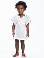 Old Navy Pom-Pom-Trim Swim Cover-Up for Toddler
