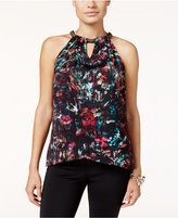 Thalia Sodi Chain-Neck Printed Top, Only at Macy's