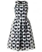 Bourne Striped Polka Full Skirt Dress