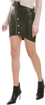 RtA Blaine Leather Skirt
