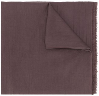 Faliero Sarti Sinclair frayed edge scarf