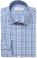 Etro Blue Slim-fit Gingham Cotton-poplin Shirt - Blue
