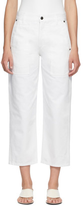 The Row White Hester Jeans